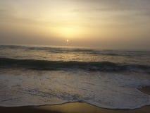 Coucher du soleil dans le kenitra Photos stock