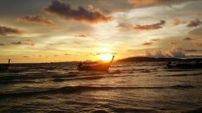 Coucher du soleil dans le krabi Image stock
