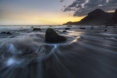 coucher du soleil dans le mouvement Photos stock
