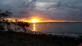 Coucher du soleil dans le noosa Image libre de droits