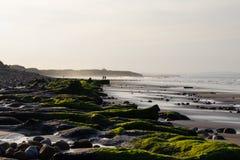 Coucher du soleil dans le Northumberland Image libre de droits