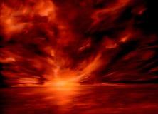 Coucher du soleil dans le Pacifique Image stock