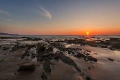 Coucher du soleil dans le Pacifique images libres de droits
