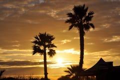 Coucher du soleil dans le paradis Photographie stock libre de droits
