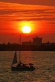 Coucher du soleil dans le paradis Photos stock