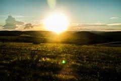 Coucher du soleil dans le paradis Images stock