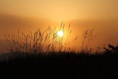 Coucher du soleil dans le pays Photographie stock libre de droits