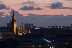 Coucher du soleil dans le repaire Haag Images libres de droits