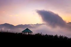 Coucher du soleil dans le sapa Photo libre de droits