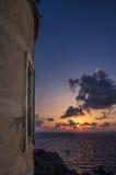Coucher du soleil dans le Testa de capo photos stock