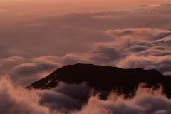 Coucher du soleil dans les Andes Photos stock