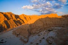Coucher du soleil dans les bad-lands du Nébraska Images stock