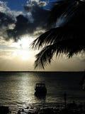 Coucher du soleil dans les Caraïbe Image libre de droits