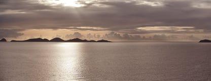 Coucher du soleil dans les Caraïbe Photos libres de droits