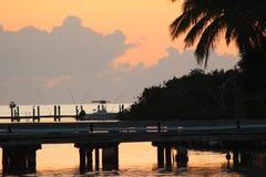 Coucher du soleil dans les clés de la Floride Image libre de droits