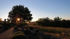 Coucher du soleil dans les Frances de Luberon Photo libre de droits