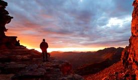 Coucher du soleil dans les montagnes de Cedarberg Images stock