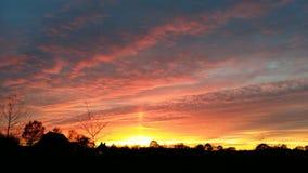 Coucher du soleil dans les sud des Pays-Bas Photographie stock libre de droits