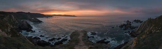 Coucher du soleil dans Loiba photographie stock libre de droits