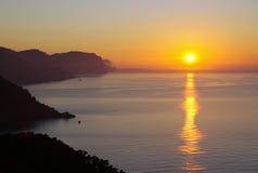 Coucher du soleil dans Majorca Photos libres de droits