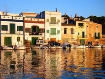 Coucher du soleil dans Majorca Images stock