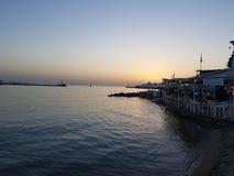 Coucher du soleil dans Mykonos Photos stock