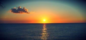 Coucher du soleil dans Negril Photo stock