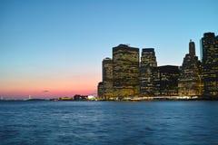 Coucher du soleil dans NYC Photos libres de droits