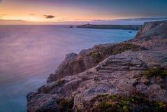Coucher du soleil dans Quiberon, la Bretagne Photographie stock