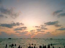 Coucher du soleil dans Rameswaram Photo libre de droits