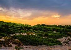 Coucher du soleil dans Salento Photographie stock