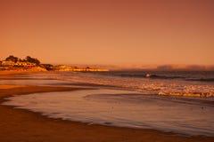 Coucher du soleil dans Santa Cruz Images stock