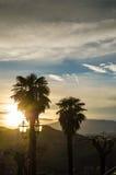 Coucher du soleil dans Sassocorvaro Image libre de droits