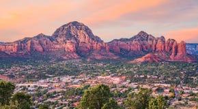 Coucher du soleil dans Sedona, Arizona Images libres de droits