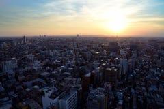 Coucher du soleil dans Setagaya-ku, Tokyo, Japon Photographie stock