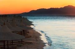 Coucher du soleil dans Sharm El Sheikh Photos libres de droits