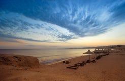 Coucher du soleil dans Sharm El Sheikh Image stock