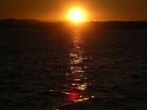 Coucher du soleil dans Solovki Photo libre de droits