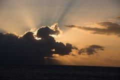 Coucher du soleil dans Tenerife Photographie stock libre de droits