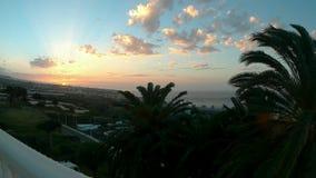Coucher du soleil dans Tenerife banque de vidéos