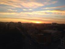 Coucher du soleil dans Toowoomba Image libre de droits