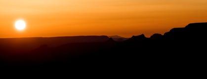 Coucher du soleil dans Utha Image libre de droits