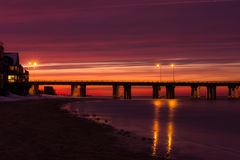 Coucher du soleil de baie de chesapeake Images libres de droits