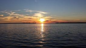 Coucher du soleil de baie de Guffins Photographie stock libre de droits