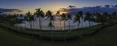 Coucher du soleil de baie de Kapalua Photos libres de droits