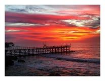Coucher du soleil de Bali image stock