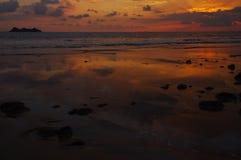 Coucher du soleil de Ballena Image libre de droits