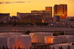 Coucher du soleil de bande de Vegas Image libre de droits