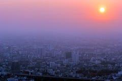 Coucher du soleil de Bangkok Photos libres de droits