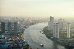 Coucher du soleil de Bangkok Images stock